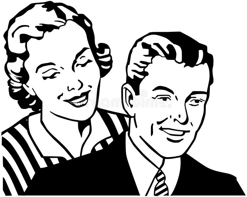 Retro Couple stock illustration