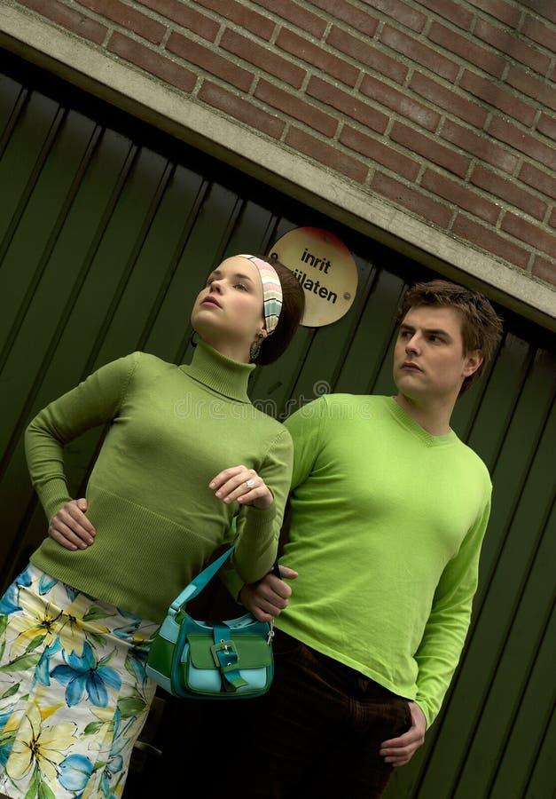Retro Couple stock image