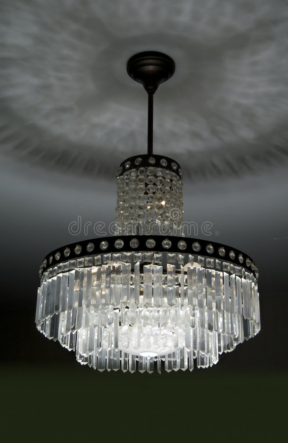 Retro Crystal Chandelier Royalty Free Stock Photography