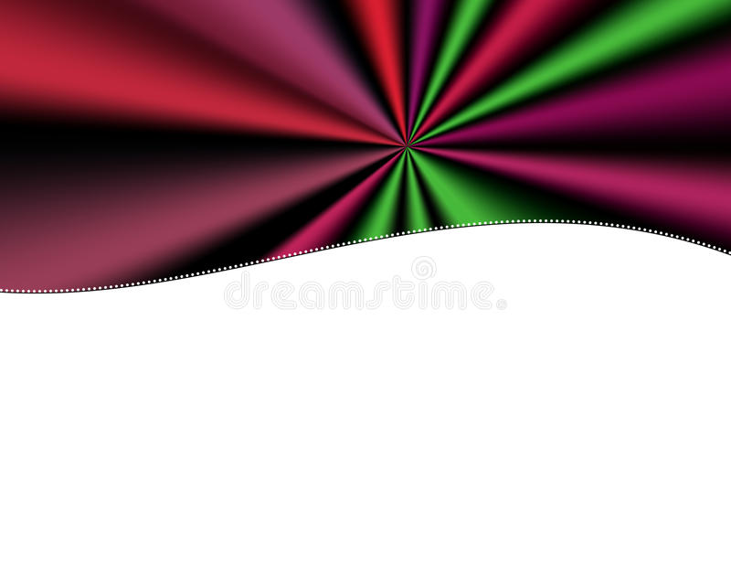 Retro Curtains Multicolor curtain header royalty free stock images