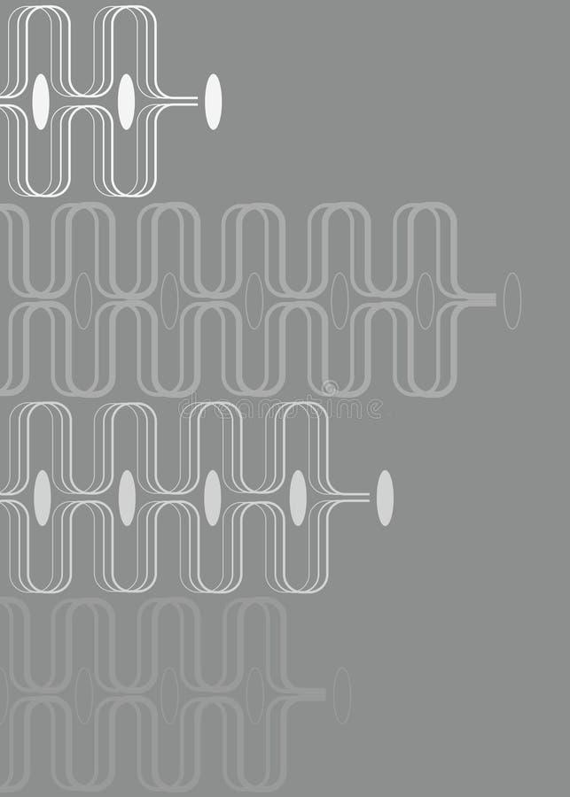 Retro curve bianche su grey illustrazione di stock