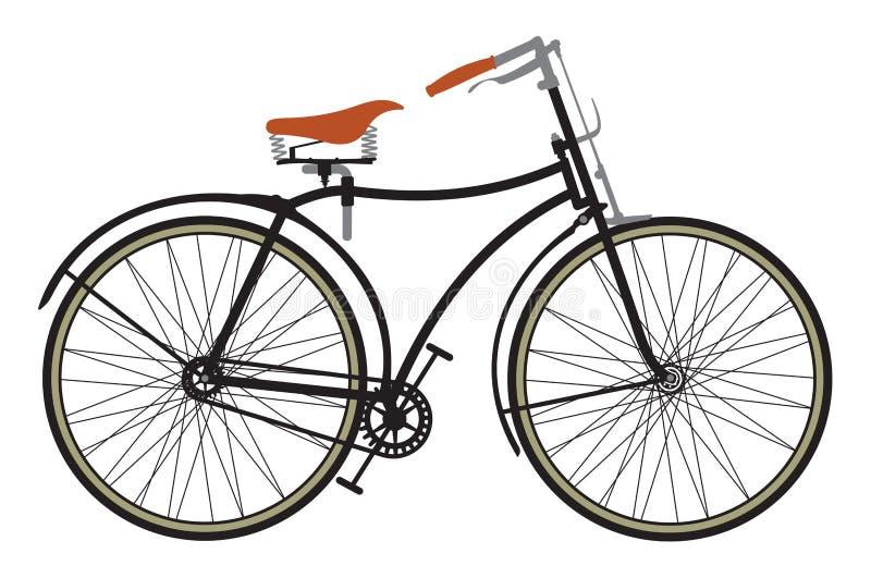 Retro cykel vektor illustrationer