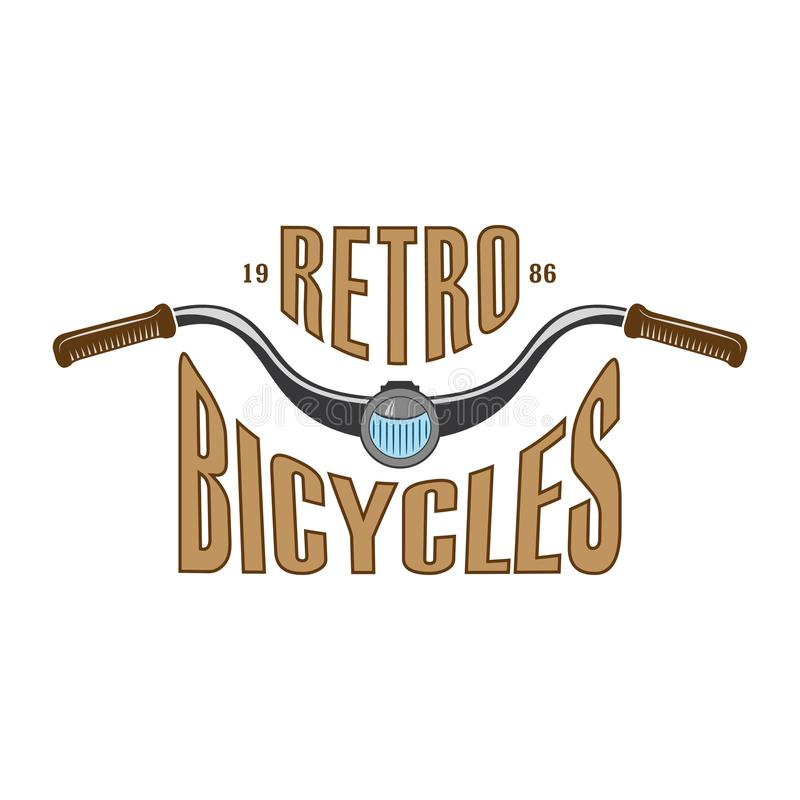 Retro cykel- och sparkcykelklubbalogo stock illustrationer
