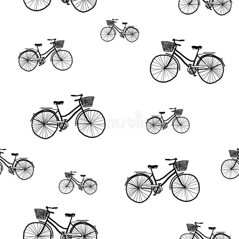 Retro cykelmodell stock illustrationer