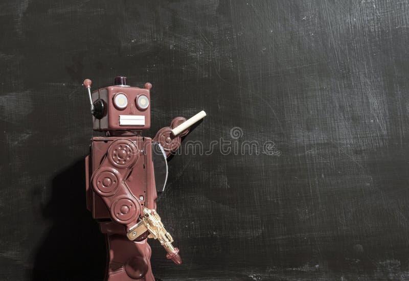 Retro czerwony robota techer zdjęcia royalty free