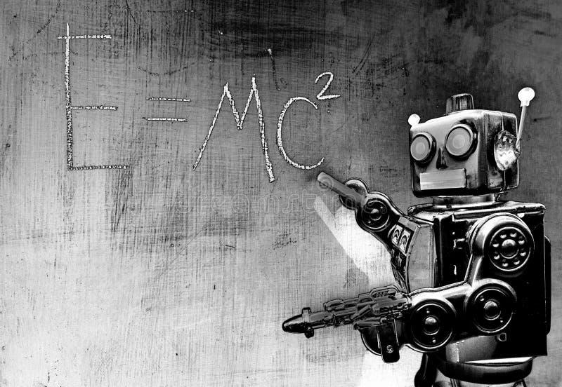 Retro czerwony robota techer obraz stock