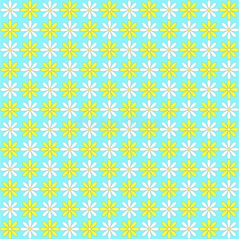 Retro daisies vector illustration