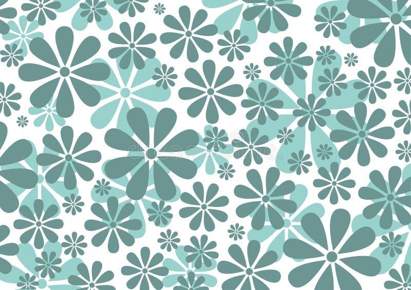 Retro Daisy Pattern vector illustratie