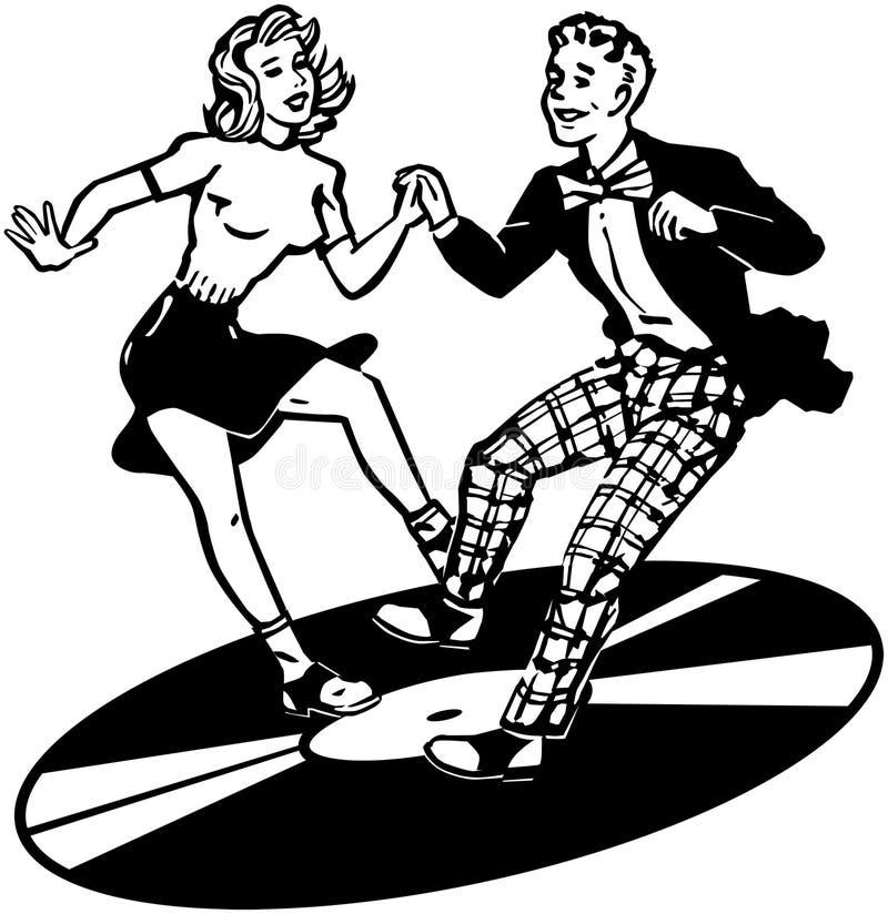 Retro Dancers vector illustration
