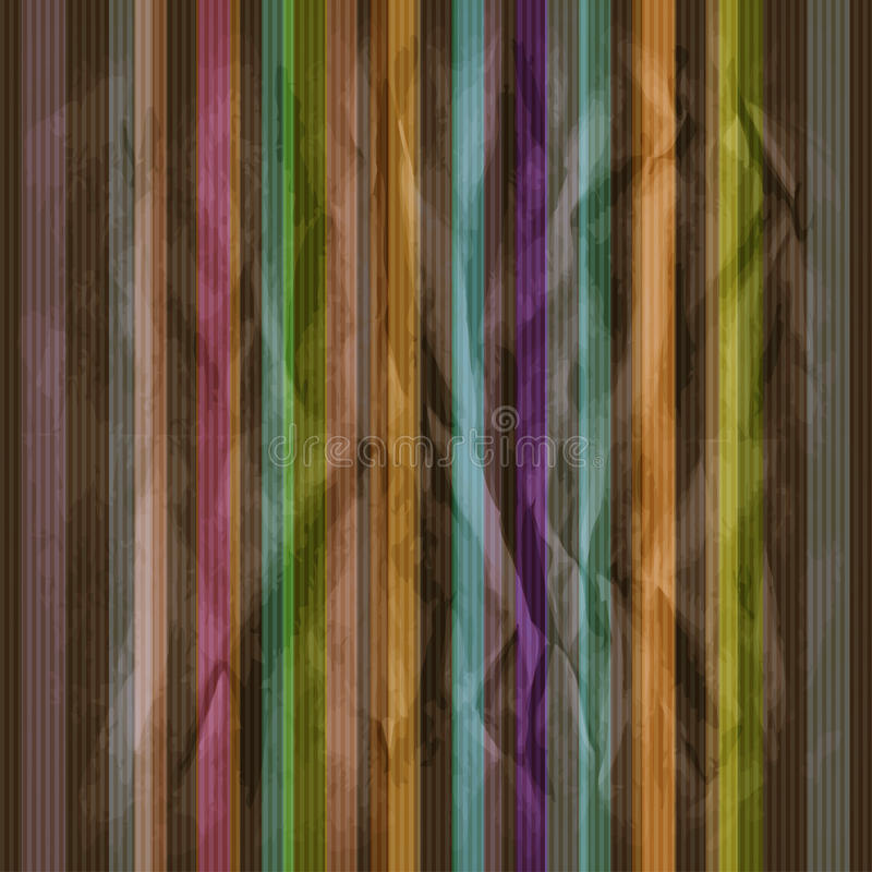 Retro dark striped pattern stock illustration