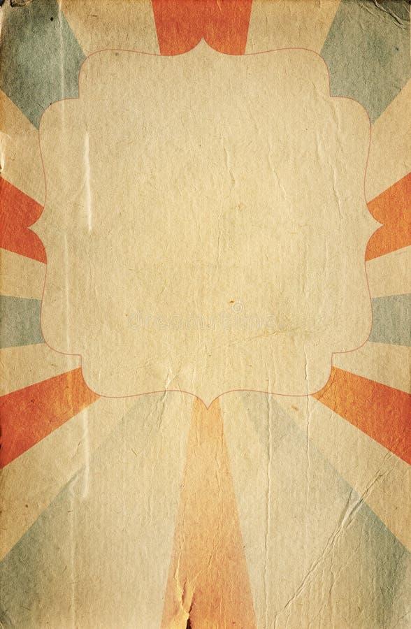 Retro de affichemalplaatje van de circusstijl op ruitachtergrond met ri stock illustratie