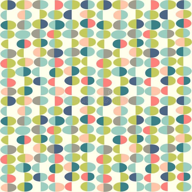 Retro de Lente naadloos patroon van abstracte paaseieren stock illustratie