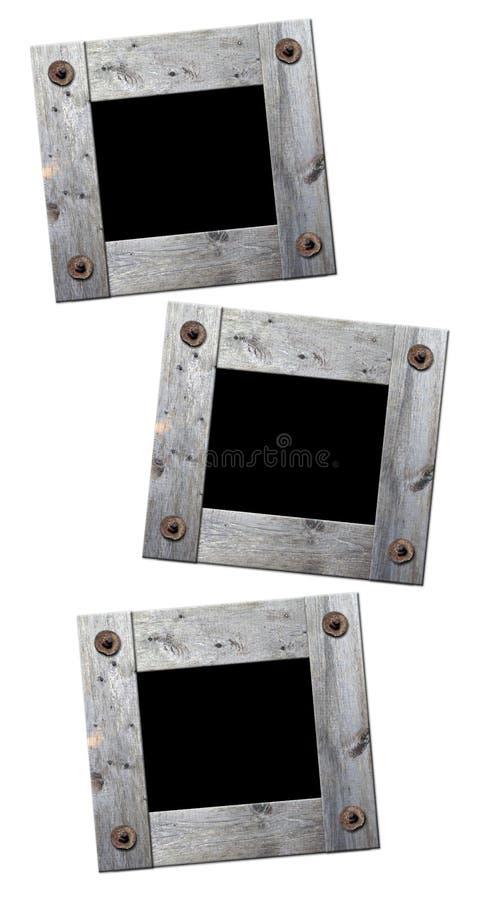 Retro de madera del marco de la foto aislado libre illustration