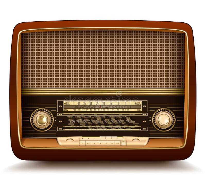 Retro de rádio ilustração do vetor
