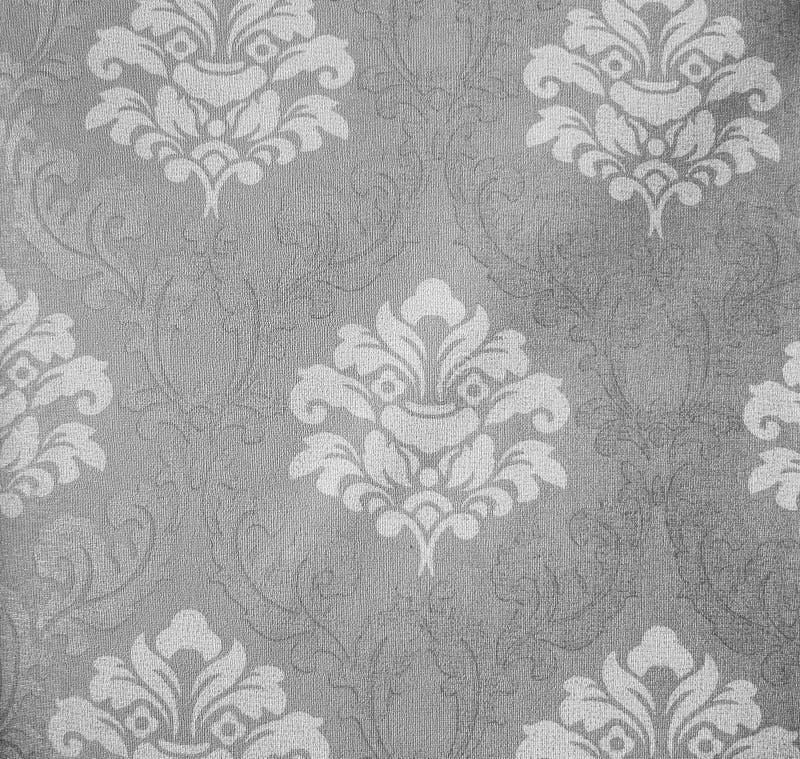 Retro de Stoffen van het Kant Bloemen Naadloze Patroon Monotone Uitstekende Stijl Als achtergrond stock foto