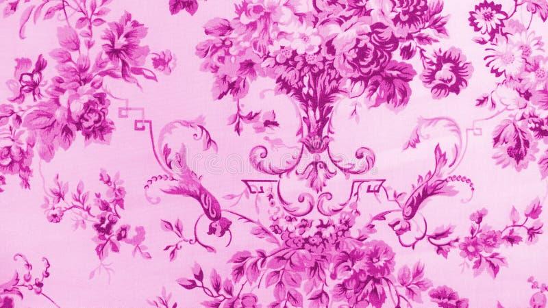 Retro de Stoffenachtergrond van het Kant Bloemen Naadloze Patroon royalty-vrije stock afbeelding