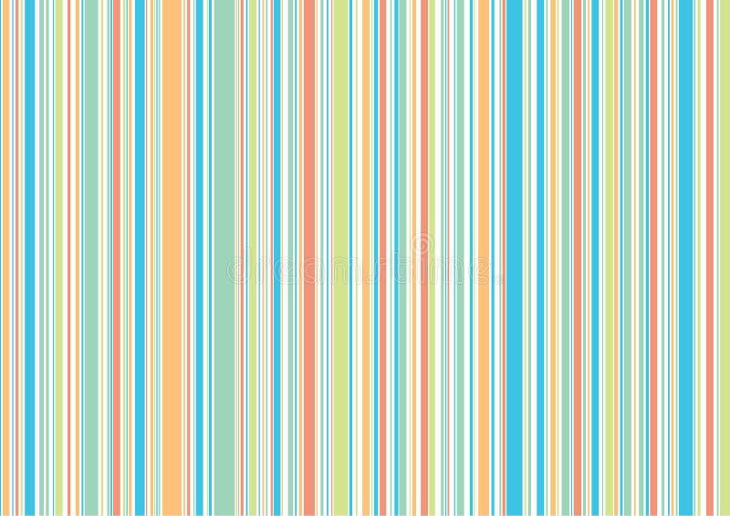 Retro de vakantiestrepen van de pastelkleur vector illustratie
