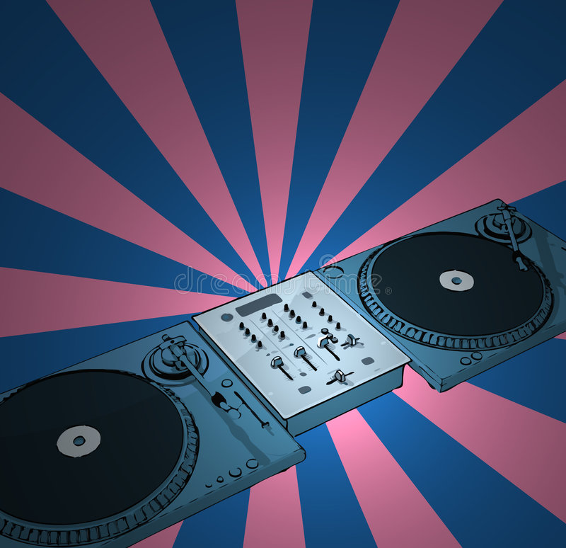 Retro Deejay Royalty Free Stock Photo