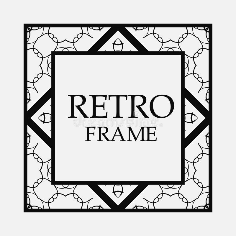 Retro dekorativ ram royaltyfri illustrationer