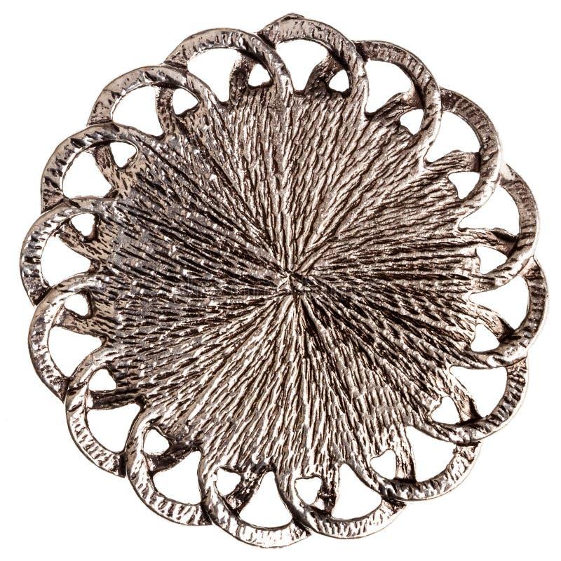 Retro del pendente d'argento fotografia stock