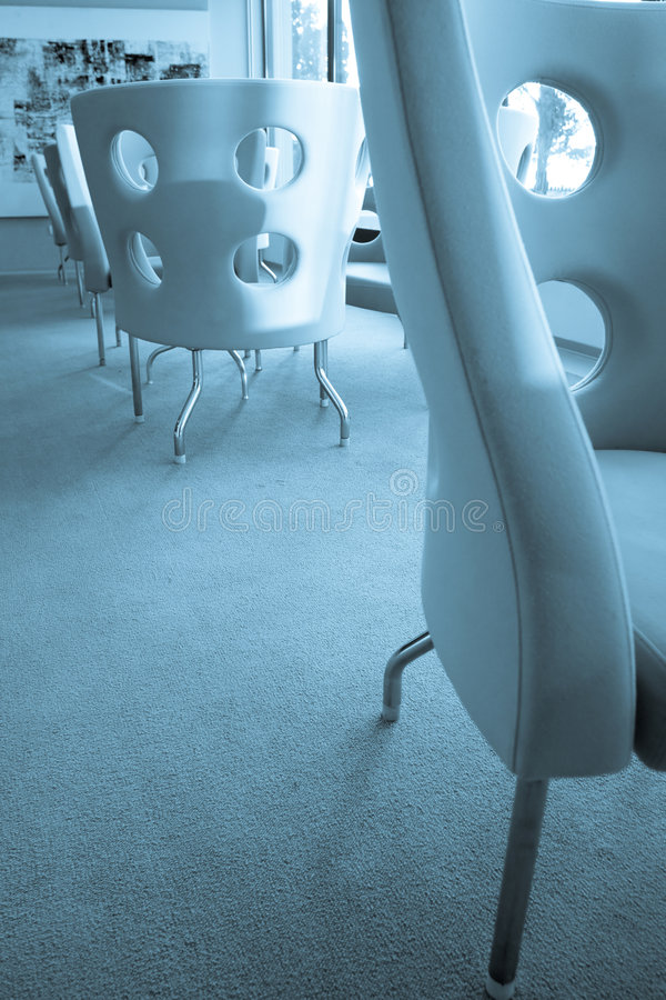 Retro design chairs stock images