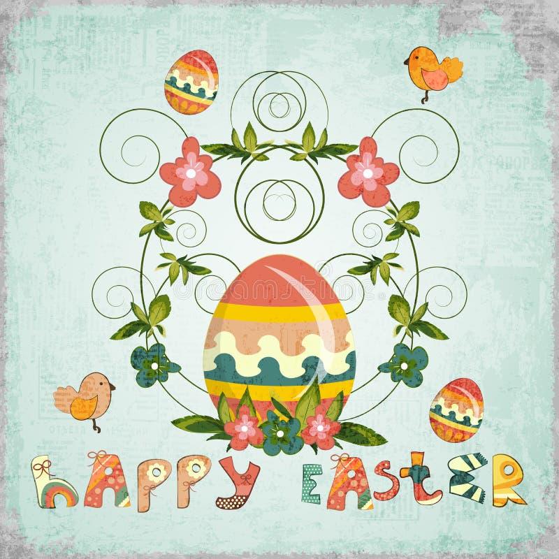 Retro Design of Easter Card vector illustration