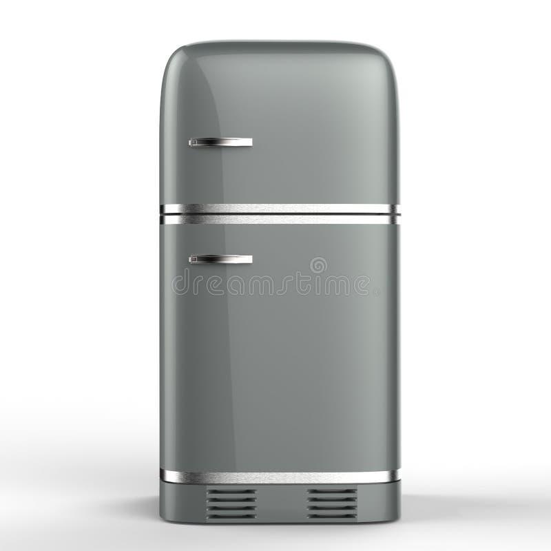Retro design fridge. 3d rendering retro design fridge stock illustration