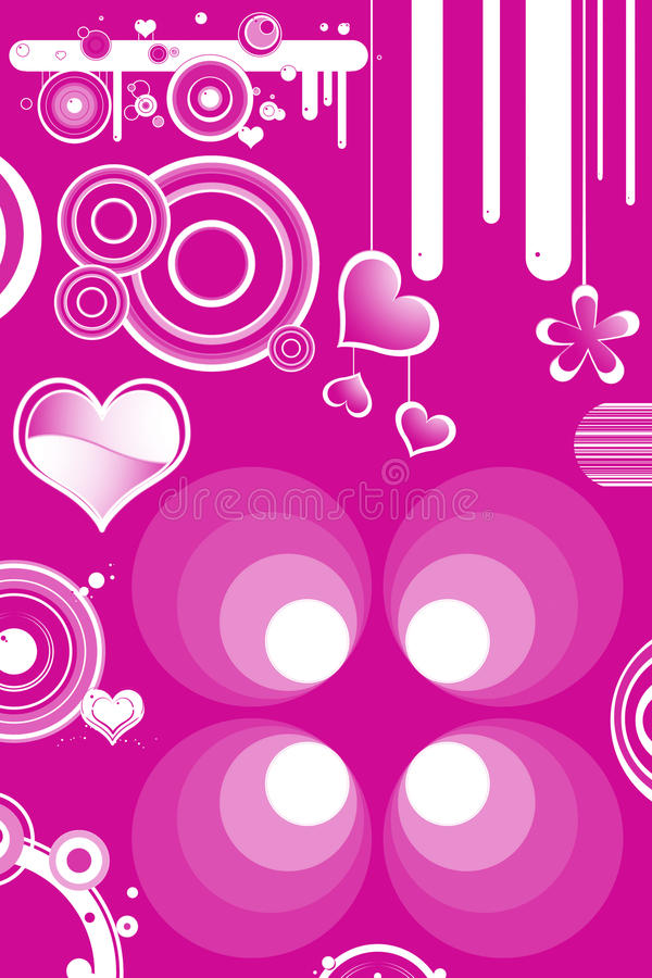 Download Retro designs and hearts stock illustration. Illustration of fashion - 15413482