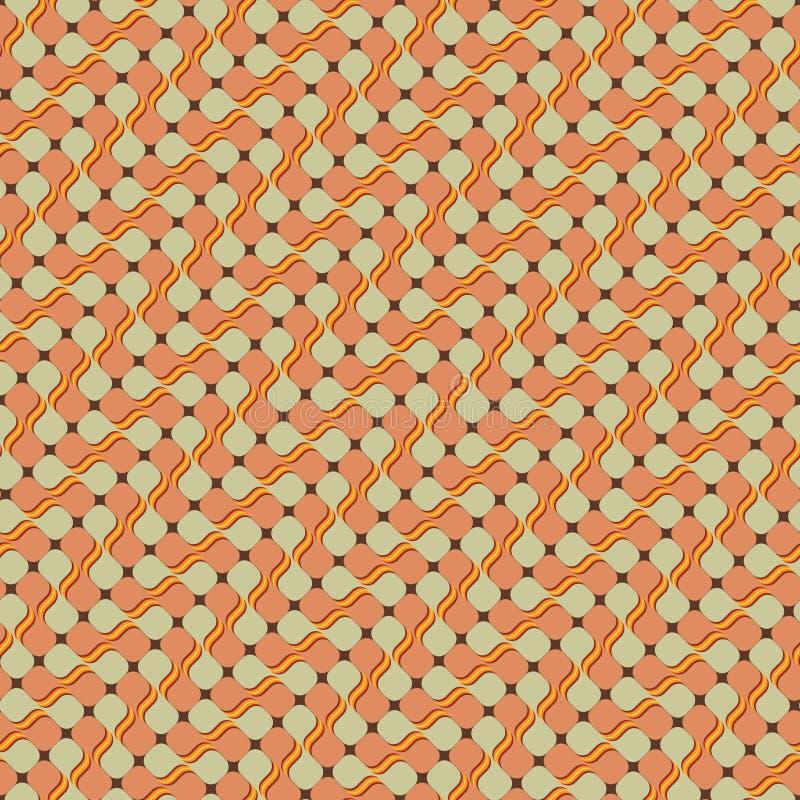 Retro Diagonaal Patroon stock illustratie