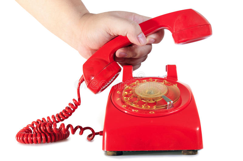 Download Retro Dial Style Red House Telephone Royalty Free Stock Images - Image: 21800509