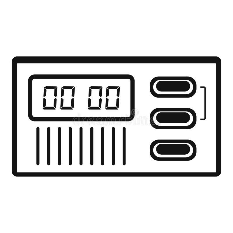 Retro digitaal klokpictogram, eenvoudige stijl royalty-vrije illustratie