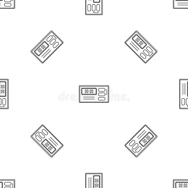 Retro digitaal klokpictogram, overzichtsstijl vector illustratie