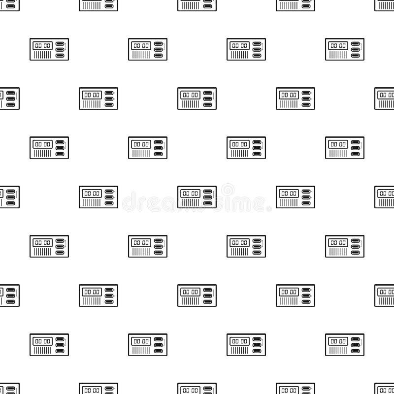 Retro digitale naadloze vector van het klokpatroon royalty-vrije illustratie