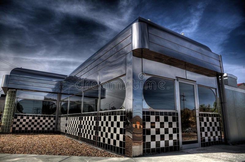 Retro diner stock photos