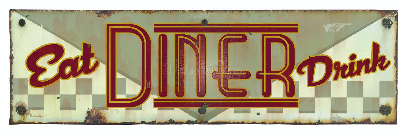 Retro Diner Tin Sign stock foto's