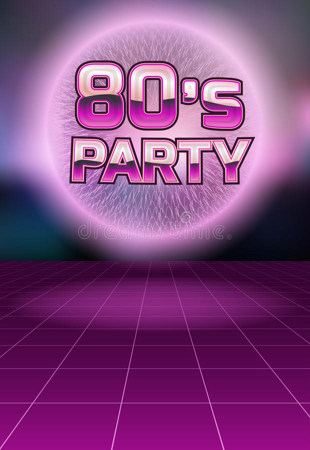 Retro Disco Flyer Template Stock Vector Illustration Of Clubbing