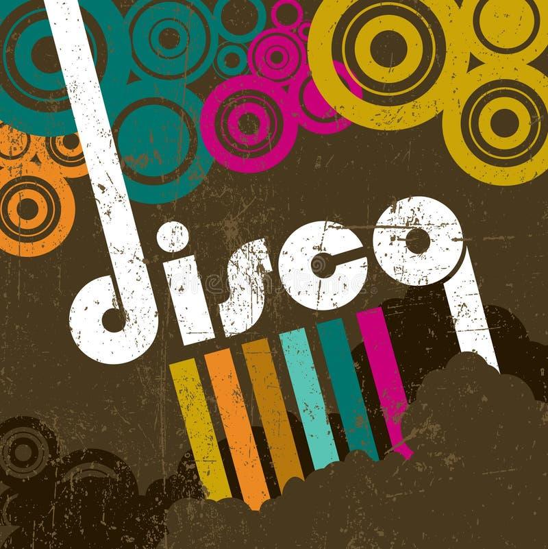 Retro disco style royalty free illustration