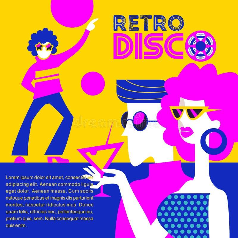 Retro discopartij Vector illustratie vector illustratie