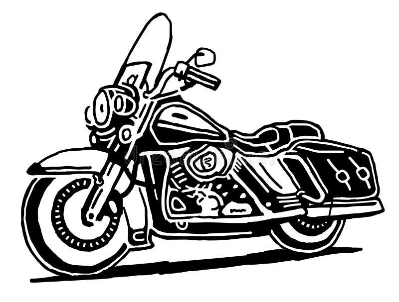 Retro disegno di vettore del motociclo illustrazione vettoriale