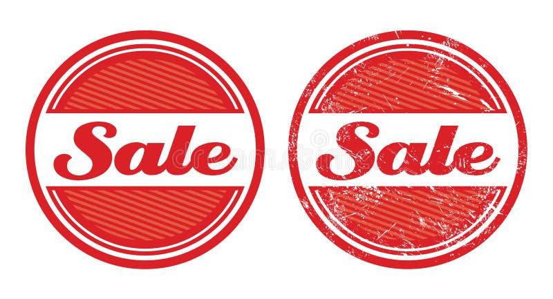 Retro distintivi del grunge di vendita illustrazione vettoriale