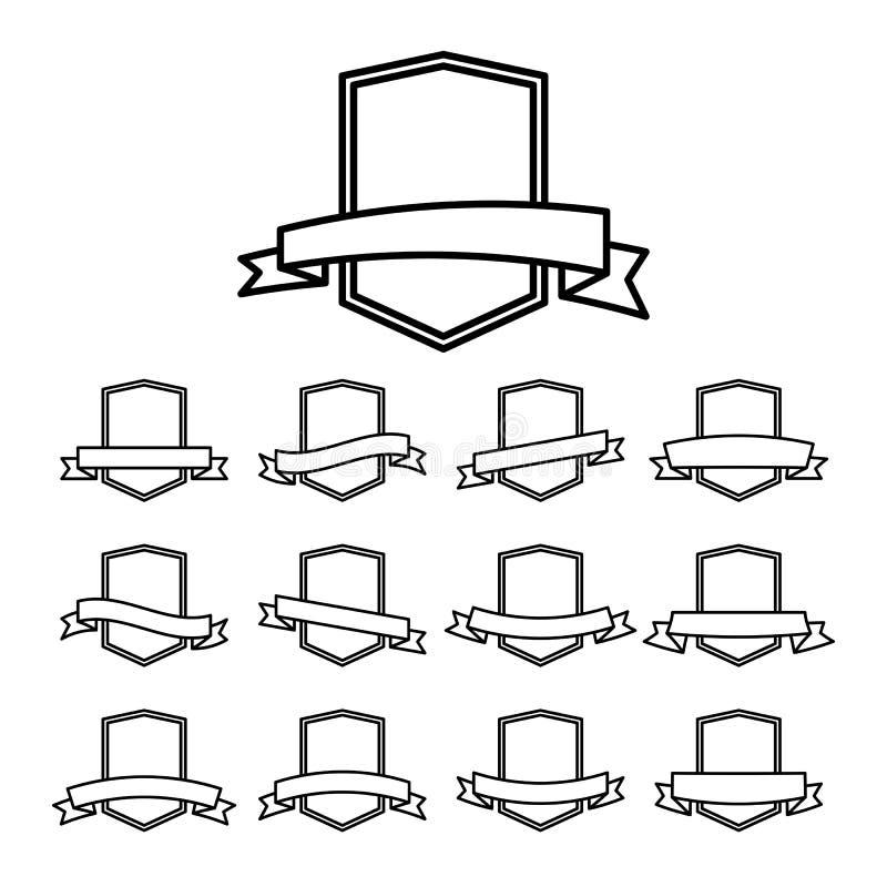 Retro distintivi di vettore royalty illustrazione gratis