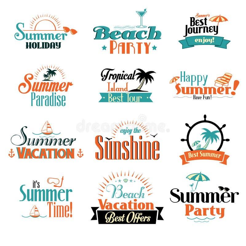 Retro distintivo di estate illustrazione di stock