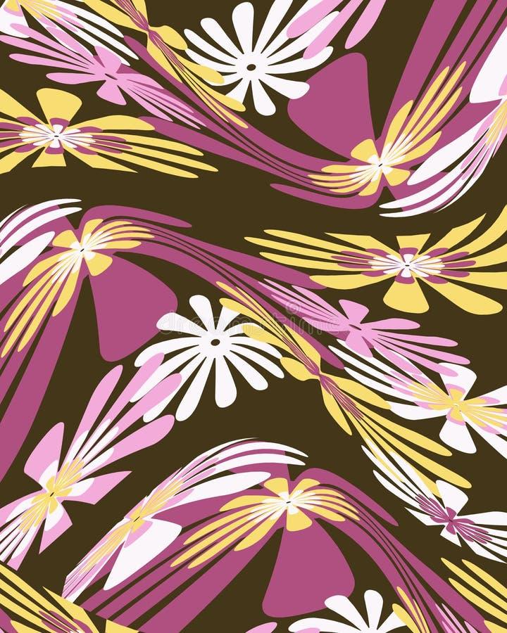 Download Retro Distorted Floral Graphic Design Stock Illustration - Image: 5995958