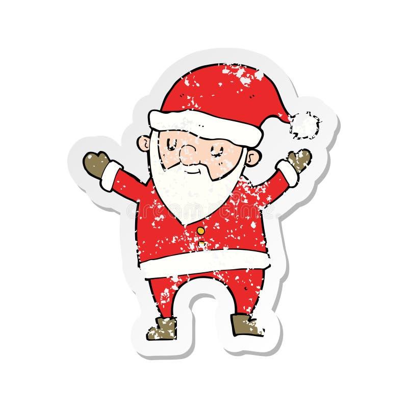 Father Christmas Cartoon Images.Sticker Dancing Santa Claus Father Xmas Christmas Cartoon