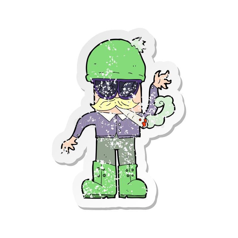 Sticker Pot Marijuana Weed Sign Symbol Smoking Cartoon Character