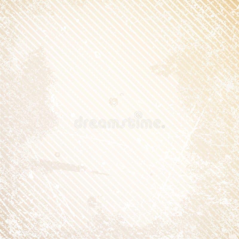 Retro Document Achtergrond Diagonaal Lijnenkrassen en Vlekkenbeige royalty-vrije illustratie