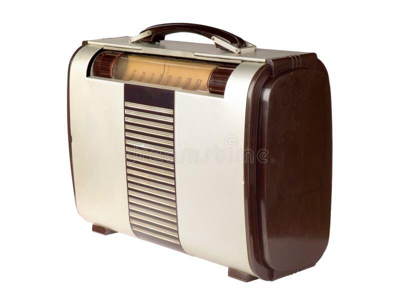 Retro Draagbare Radio royalty-vrije stock foto
