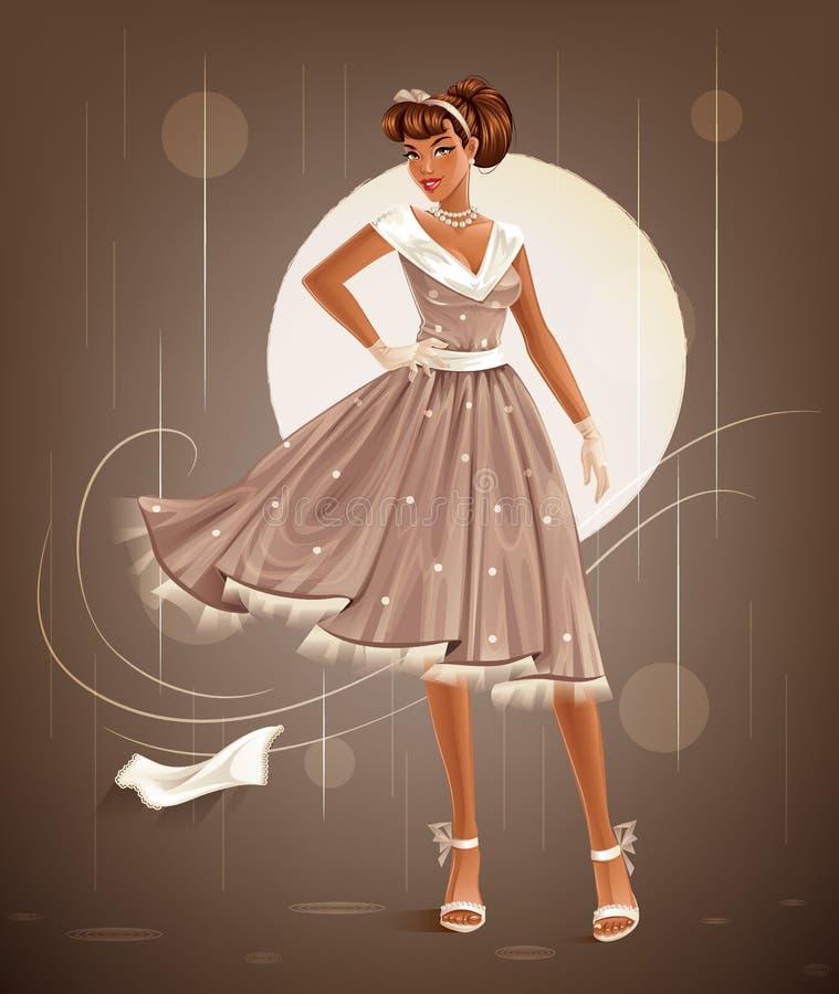 Retro Dress royalty free illustration