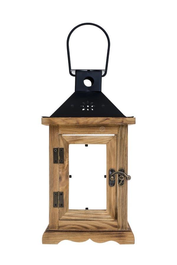 Retro Drewniany lampion zdjęcia royalty free