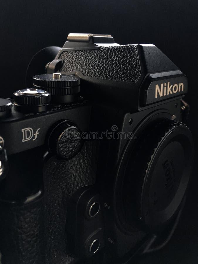 Retro- DSLR 16MP Schwarzes der Kamera lizenzfreies stockfoto